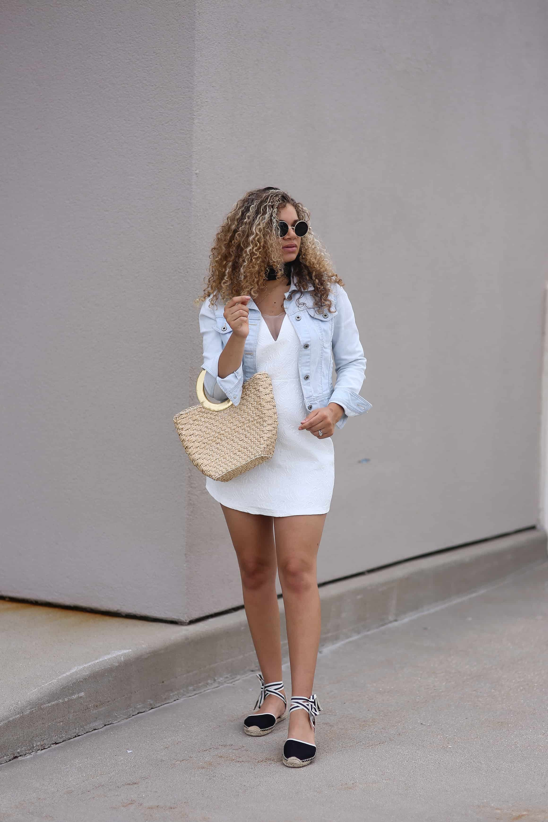 white dress summer outfit