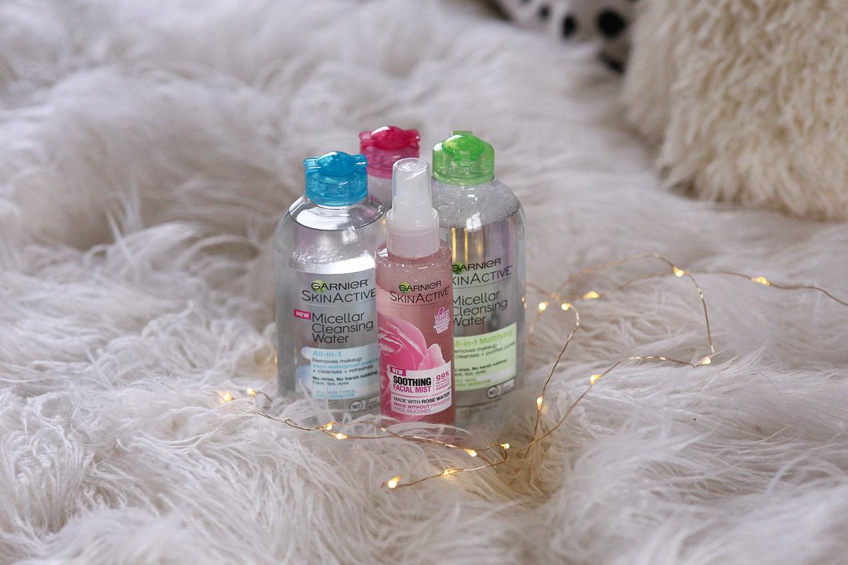 fashion and lifestyle blogger Carolyn of My Chic Obsession with garnier micellar water