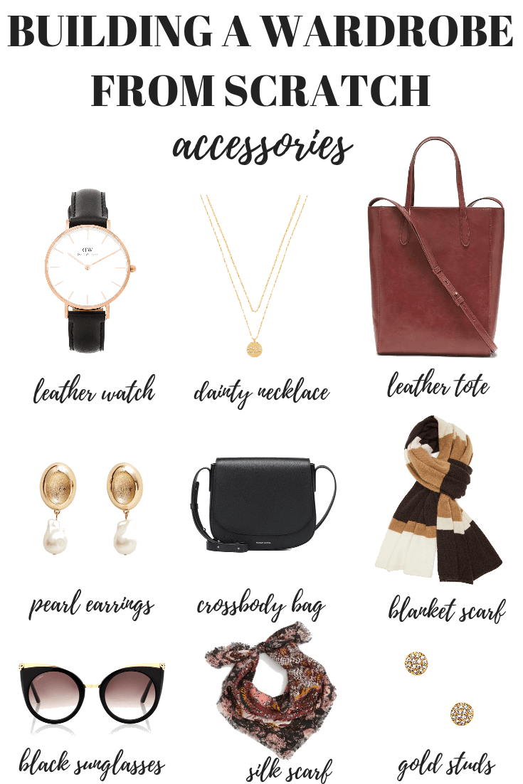 Here's how to build a wardrobe from scratch starting with your accessories. Your capsule minimalist wardrobe is just one step away!