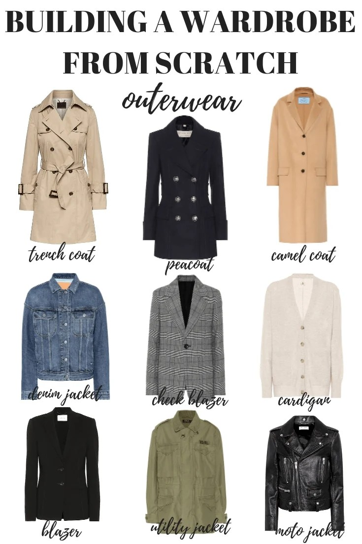 Here's how to build a wardrobe from scratch starting with your outerwear. Your capsule minimalist wardrobe is just one step away!