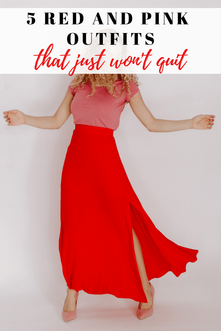 Red and pink outfits that are perfect for Valentine's Day or wearing them for spring. These colors together are great spring outfit ideas too!