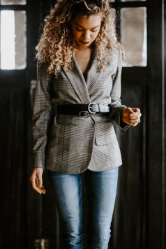 Want to look cute on a budget? It's not always what you wear, but how you wear it, like this belted blazer.