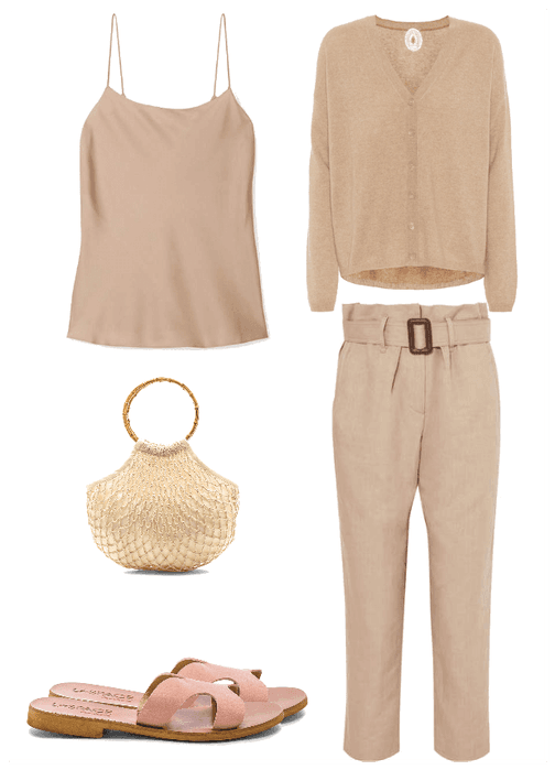 Want to know what the latest spring trends are and how to wear them? Here are spring outfit ideas on how to wear beige had to toe!