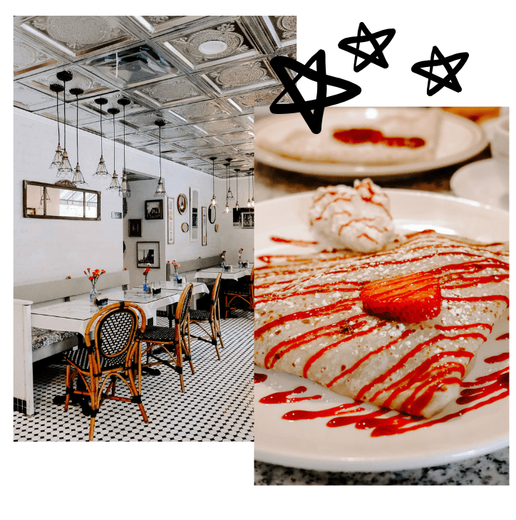 Planning a girl's trip to LA and need ideas on what to do? This chic girl's guide to LA has ideas on what to do, where to eat, where to shop, and where to stay, just to name a few! Crepes De Paris is a cute french cafe!