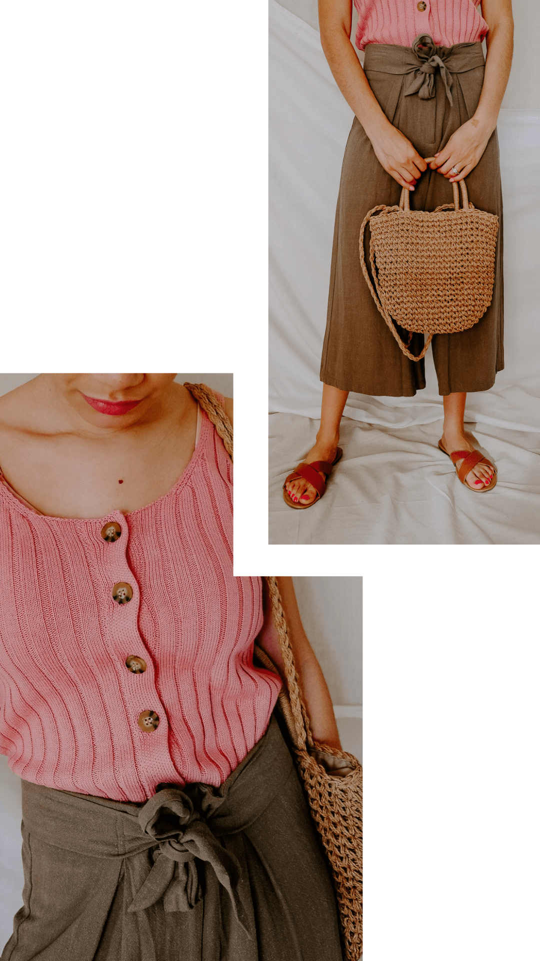 Does the warmer weather inspire you to try out some chic color combos this season? Here are 4 chic color combos to add to your spring and summer outfits! I love this pink and olive green color combo.