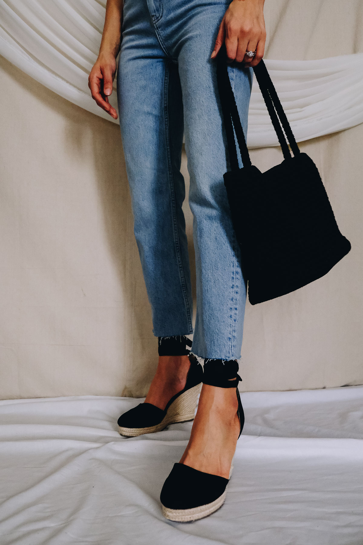 Wondering what spring staples you need for your spring outfits? Check out this post on what you need this season and this espadrille outfit is one of them!