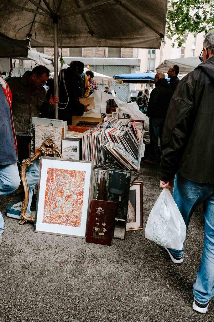 porta portese flea market rome italy