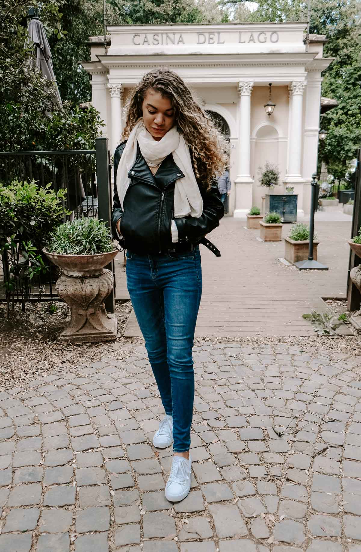 leather jacket outfit and how to dress like a local in rome italy