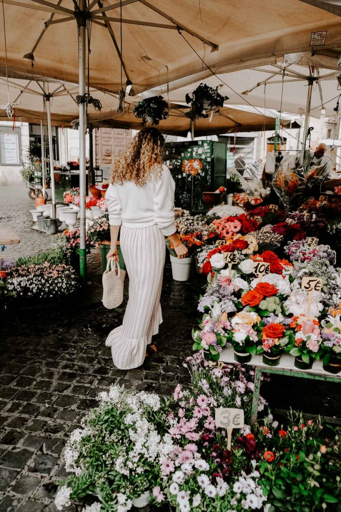 Campo de' Fiori market rome italy