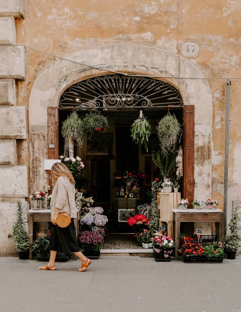 flower shop in Rome, Italy