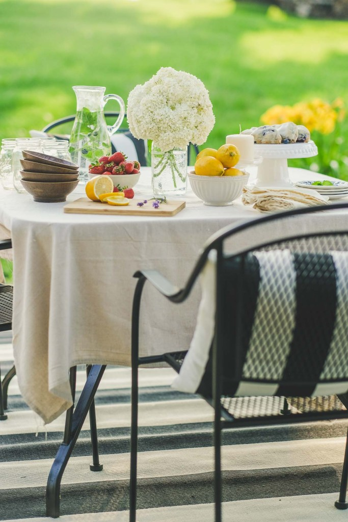 french country outdoor deck makeover