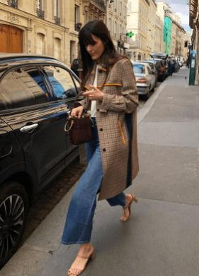 plaid jacket french girl