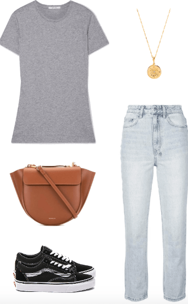 basic tee outfit
