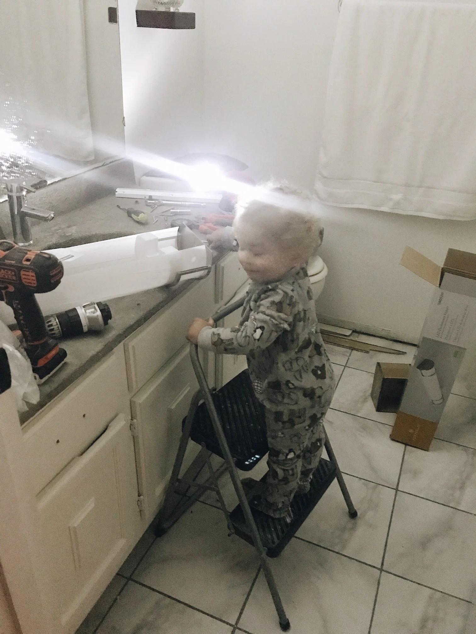fixing the bathroom