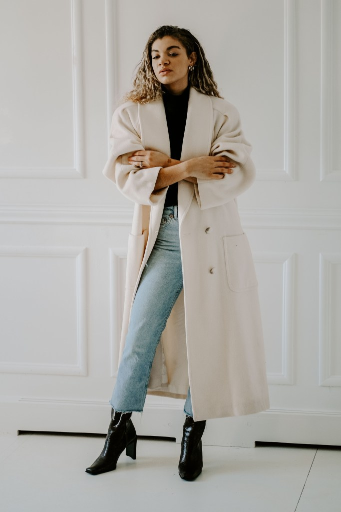 long winter coat outfit