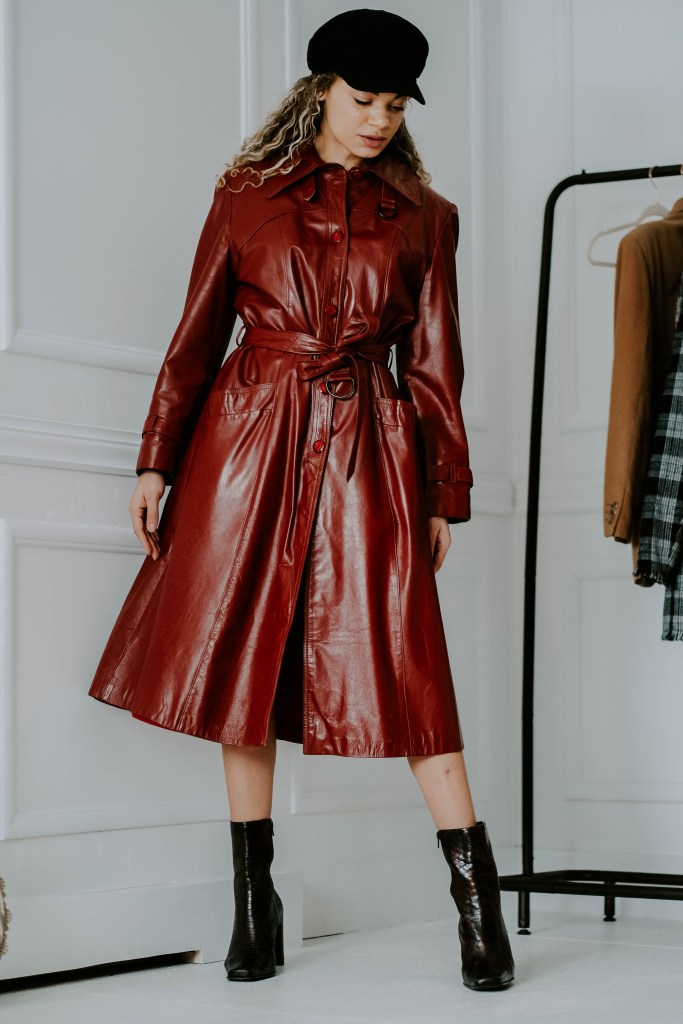 leather dress outfit
