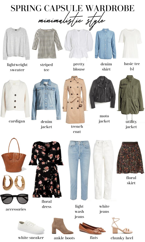 minimalist spring capsule wardrobe