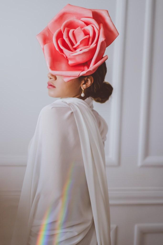 flower headband fashion photography