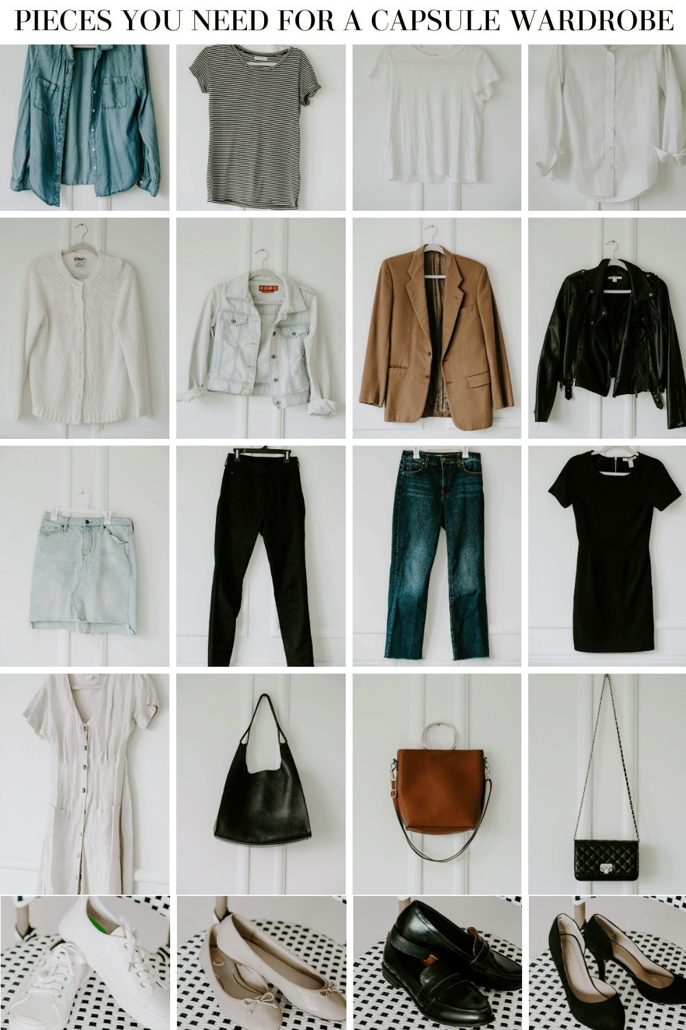 pieces for a capsule wardrobe