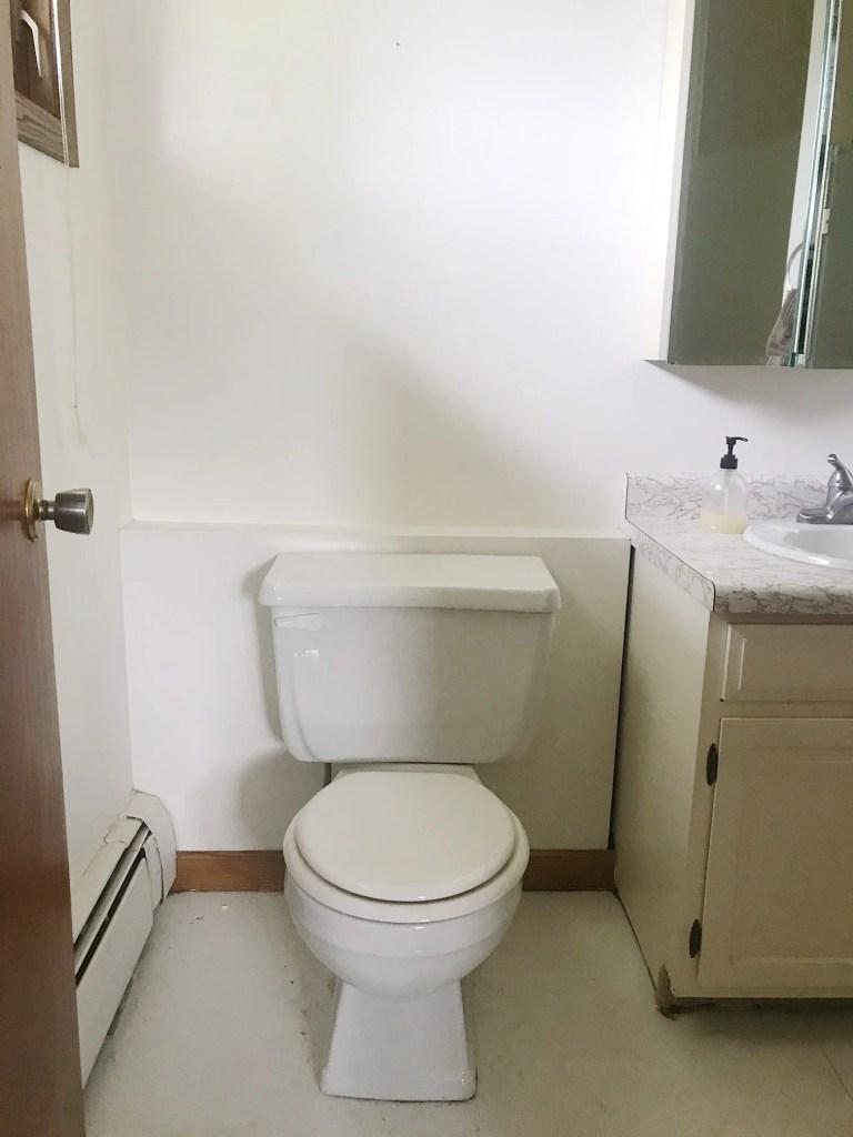 master bathroom makeover before