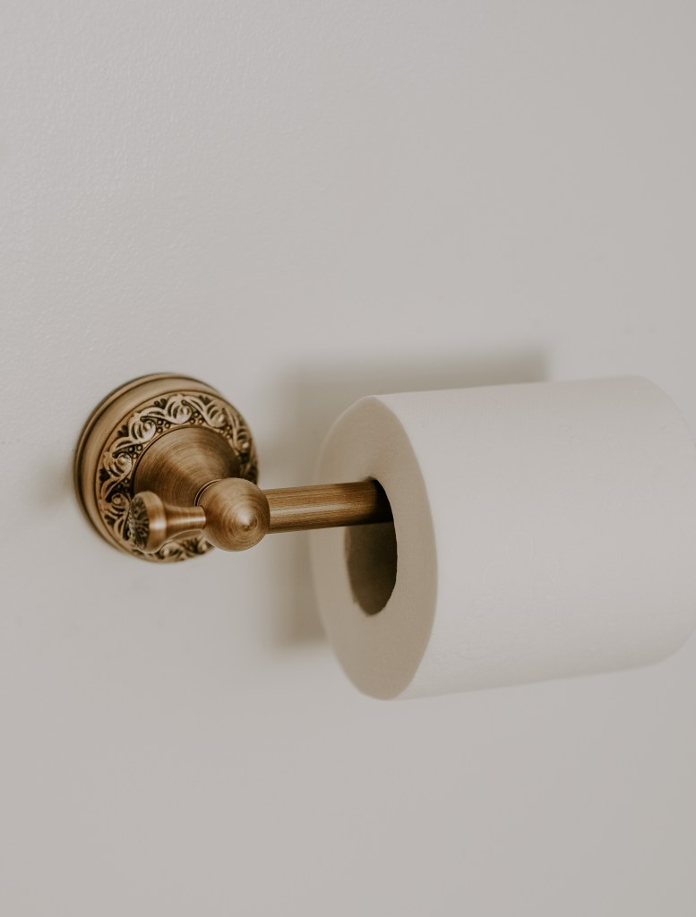 antique brass hardware bathroom