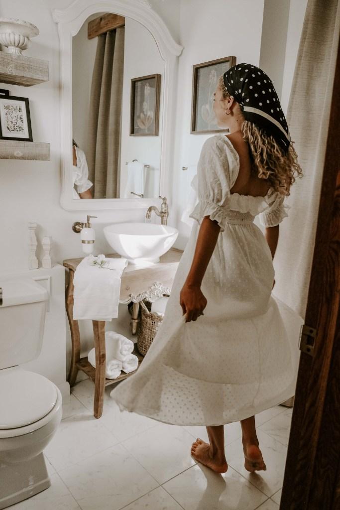 classy master bathroom reveal