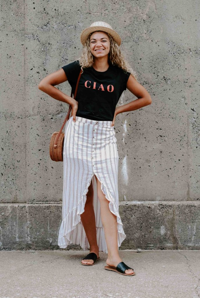 graphic tee summer outfit