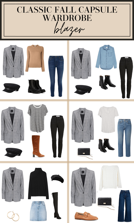 blazer outfit ideas fall capsule wardrobe