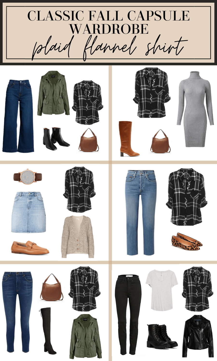 plaid flannel fall outfit ideas