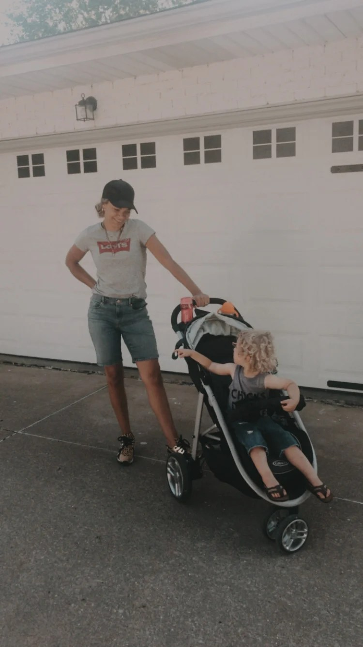 mother and toddler boy summer outfit