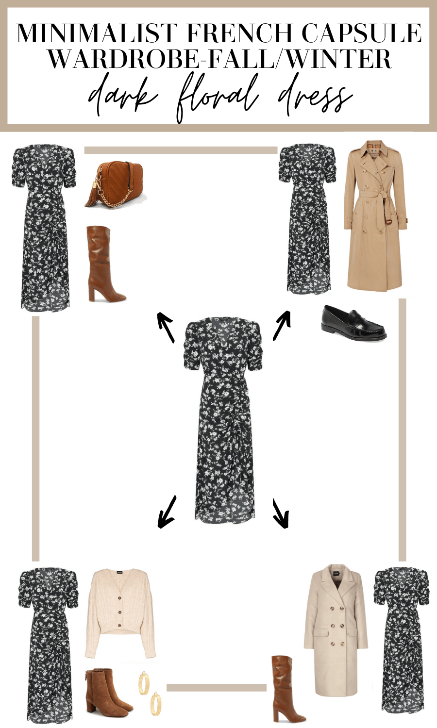 dark floral dress outfit ideas