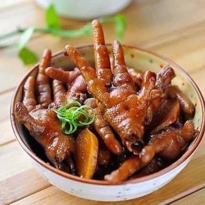स्पेशल रोस्ट चिकन फीट रेसिपी