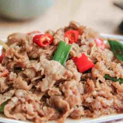 Chinese Sauteed Beef Sliced Recipe