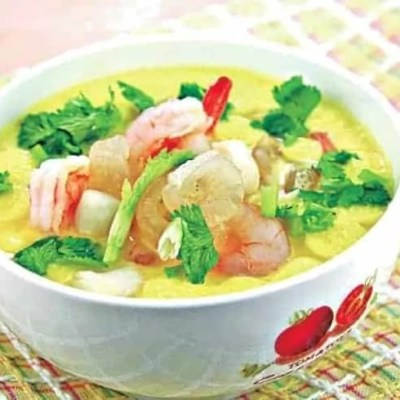 Chinese Seafood Flavor Steamed Egg Custard Recipe