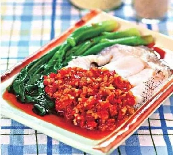 Steamed Chinese Kale and Cod Fish Recipe