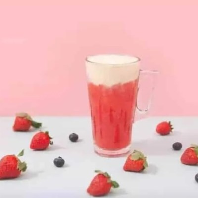 Cheese Strawberry Green Tea Recipe
