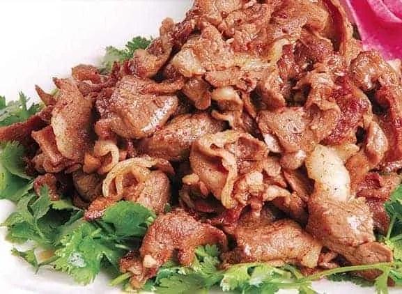Cumin seed with stir fried beef