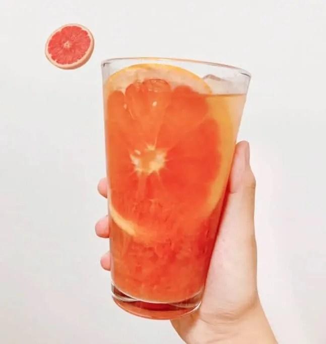 Red Pomelo & Green Tea Smoothie Recipe