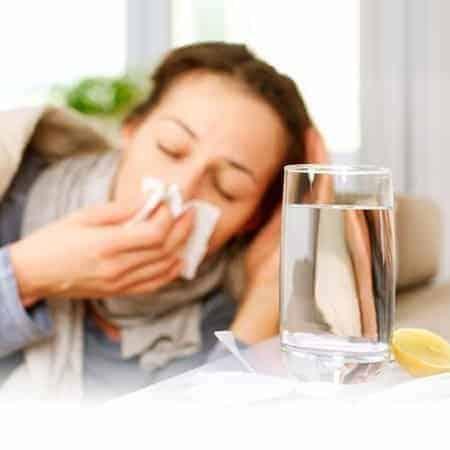 lady down with flu-like symptoms