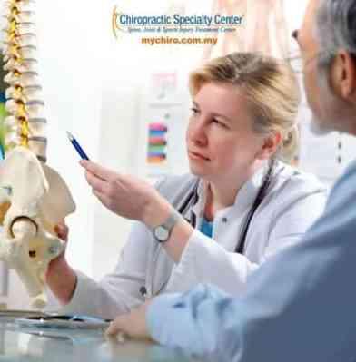 chiropractic consultation shown