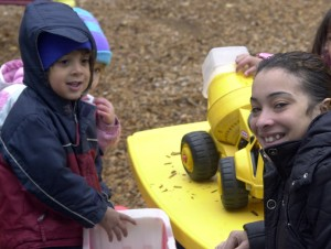 Jarilyn Rivera (right) and her 3-year-old son Nyzaiah (left) have been involved with the Therapeautic Child Center for some time.