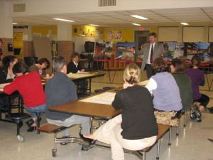 About 20 parents attended a forum held by JCJ Architecture at Hop Brook School Thursday, voicing their opinions about how Naugatuck should use its public school buildings.