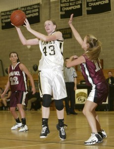 Junior Heather Framski returns as the Hawks' leading scorer and a key member of the low-post crew.