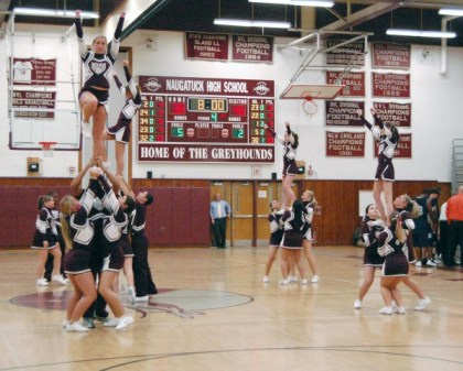 The NHS cheerleading squad was the only one in Connecticut to send members to the Disney Christmas Parade last month.