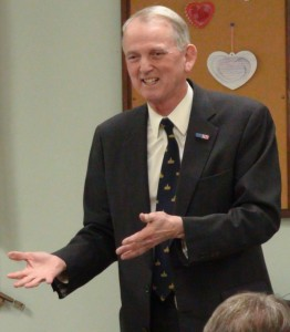 Republican U.S. Senate candidate Rob Simmons is running on the decades of experience under his belt, which include a military career, intelligence work, and ten years in the U.S. House of representatives.