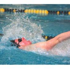 Woodland's Pat O'Dell finds his rhythm in the backstroke against Watertown Jan. 31.