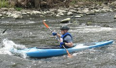 A Kayaker enjoys the river during the 4th annual Naugatuck Valley River Race and Festival May 7. PHOTO BY ELIO GUGLIOTTI