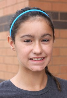 Erin Machado, 13, said she looks forward to getting good grades in her seventh grade year at Long River Middle School.