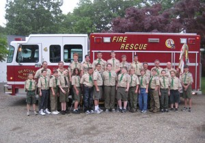 Scouts from Boy Scout Troop 104 have taken it upon themselves to help keep Beacon Falls' waterways clean. CONTRIBUTED