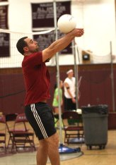 Students and faculty competed in volleyball and badminton tournaments at Naugatuck High School as part of the 'Wish Upon a Net' fundraiser Nov. 17. Money collected at the event went to the Kids Wish Network, a nonprofit that grants wishes to children with life-threatening conditions.